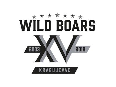 Wild Boars anniversary logo logodesign anniversary sports sport nfl football athletics logo