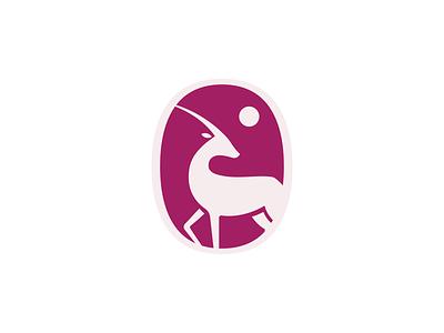 Oryx crest animal logo doha qatar oryx