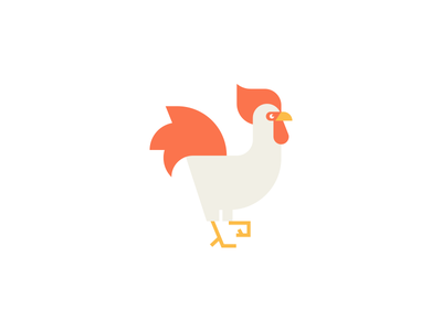 Rooster logo. mark farm animal bird cock rooster