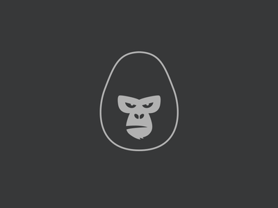 Gorilla logo mark animal ape monkey gorilla