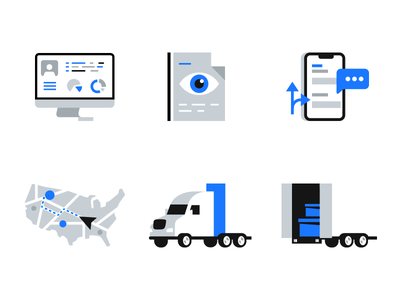 Fleet Management Icons pack trailer trucks truck tracking map usa iphone reports app dashboard computer pack icon icons management fleet