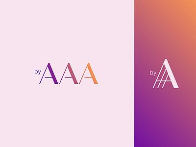 AAA aaa initial mark logodesign logotype logo