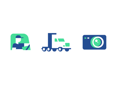 Trucking icons trucking camera management fleet driver dash cam ai truck