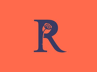 Rose logotype logo initial monogram flower rose