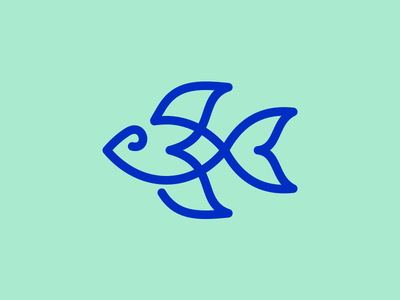Fishline sea line logo fish