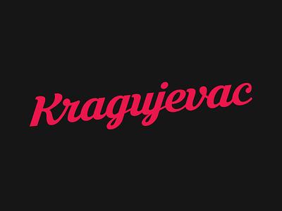 Kragujevac logotype logo serbian serbia letters letter typogaphy typo