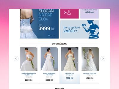 WIP ecommerce blue pink red eshop shop simple clean elegant wedding