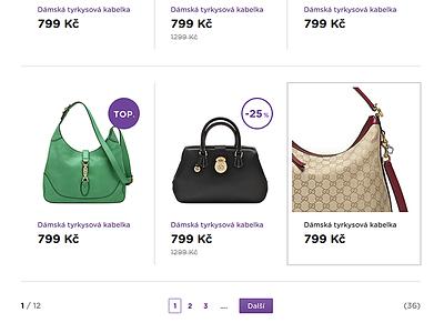 Product line - hand bags purple clean white handbags handbag hover active ecommerce eshop shop pagination products