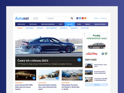 Car Magazine car magazine content focused cars turqoise typography blue clean