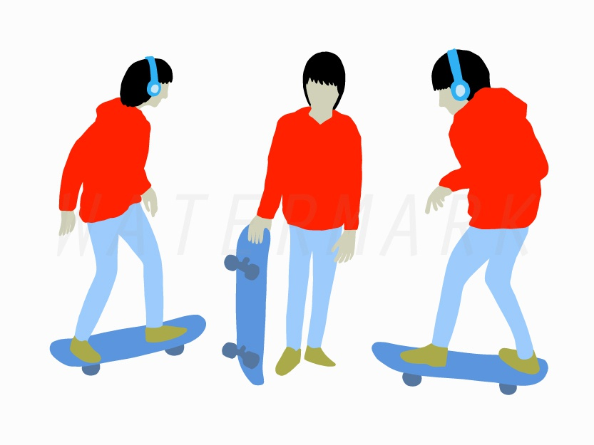 A Boy with Skateboard character cartoon logo illustration vector sticker line drawing hand drawing drawing design shirt print line art extreme sport boy skateboarding skateboard skate