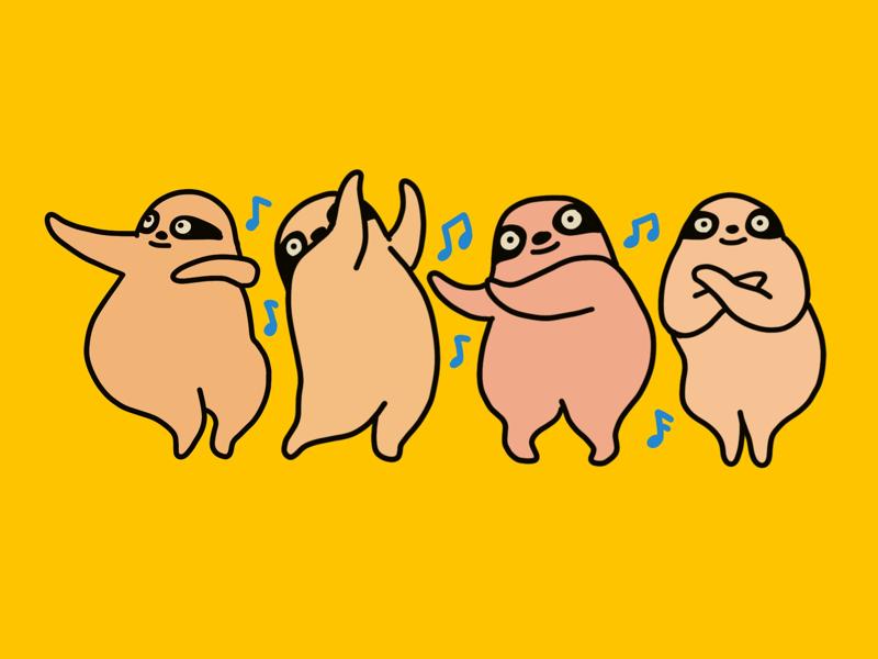 Dancing sloths song cute sloth dance hawaii dancing sloth