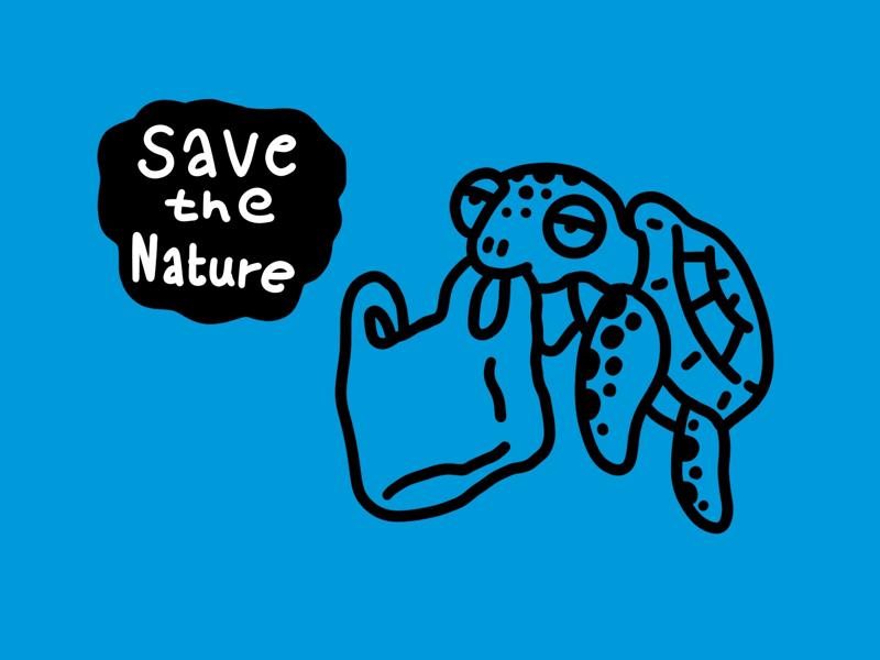 Save the nature plastic plastic bag environment save the nature nature save turtle sea turtle