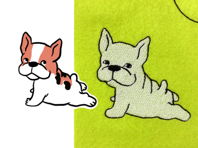 From my drawing to embroidery design.