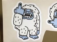 Sticker yeti