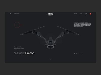 Design concept — V-Coptr ecommerce web behance animation interface design clean ux ui minimal