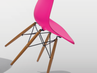 Pink Chair Art Direction