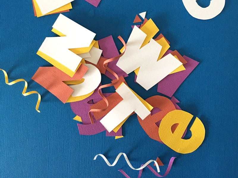 Papercraft Typography Behind The Scenes lettering letters type typography craft paper craft papercraft paper