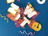 Papercraft Typography Behind The Scenes