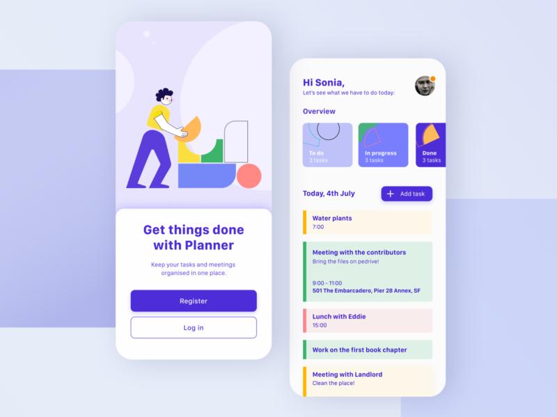 To-do App concept mobile design to-do app to-do scheduler schedule planning planner mobile app design mobile ui mobile app concept mobile vector ui design app application