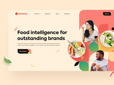 UI/UX for Tastewise by Qream illustration branding ux research website ui design app web design ux ui