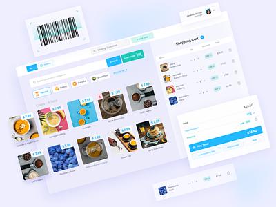 UI/UX for PoS branding flat minimal app ui design ux research web ux ui design