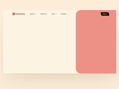 UI/UX for Tastewise animation branding website illustration ui design ux research web ux ui design