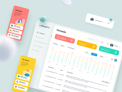 AInfinity by Qream minimal animation website illustration ui design web ux research ux ui design