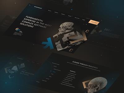 UI/UX for Acropolium by Qream minimal branding website collage ui design web ux research ux ui design