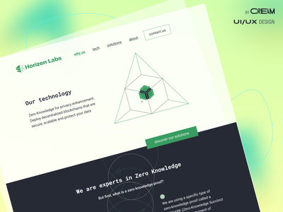 Branding for Horizen Labs by Qream brand blockchain crypto research branding design