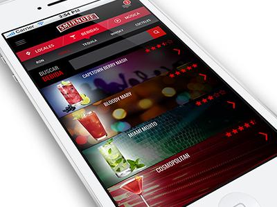 Mobile App proposal for Smirnoff