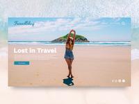 Travel blog Design - adobe Xd