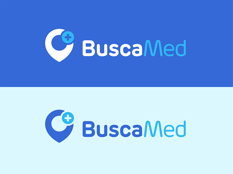 BuscaMed  mobile app icon health map location marker icon design hospital doctor healthcare ui design logo design