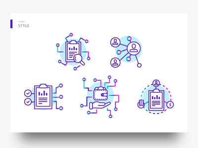 OSN Icon design social network platform blockchain science colorful icon icon design landing page