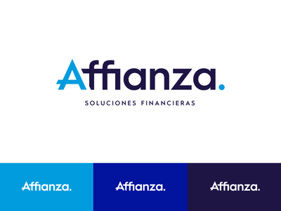 Affianza - Financial Services flat design minimal consulting logotype branding logo design financial services