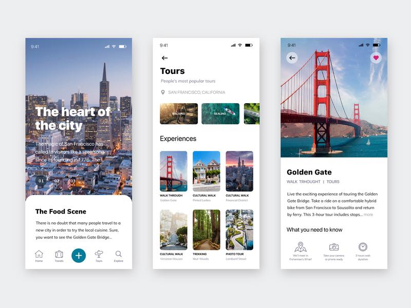 Travel platform mobile design road trip travel platform ios ui ux ui design mobile app photography illustration icon desig