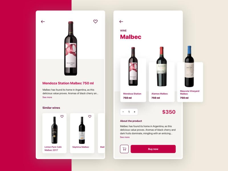Wine App winery mobile app ui design cards app wine
