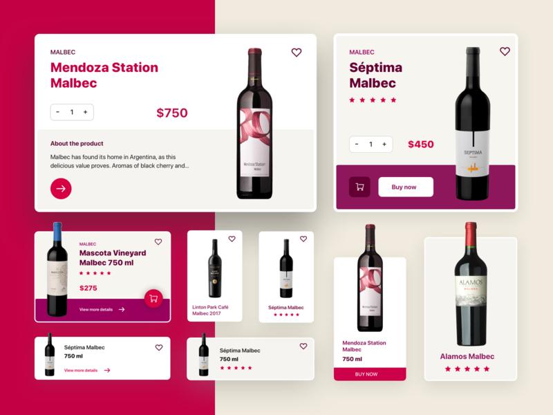 Cards Exploration winery app wine explorations cards design cards ui design mobile app