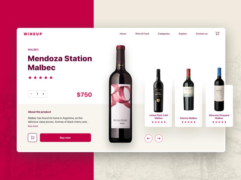 Wine Website cart ecommerce platform ui design desktop app desktop design wine website desktop