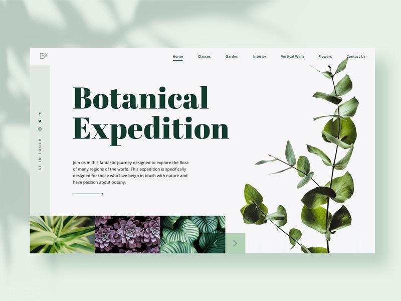 Botanical Expedition classes garden plants botanical botany web design platform ui design website