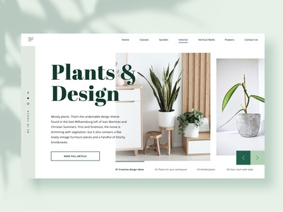 Plants & Interior Design