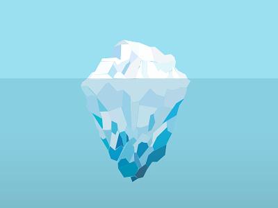 Iceberg iceberg ice water low poly
