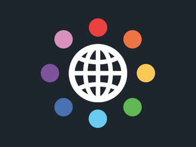 Nonprofit Logo 3 logo globe youth nonprofit organization rainbow colors earth