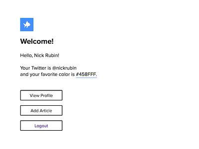 Simple Social Dashboard social network profile dashboard winnow hackathon