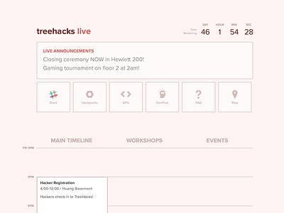 TreeHacks Live event timeline calendar website schedule