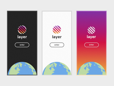 iOS Onboarding Concept outrun gradient earth onboarding logo welcome ios app