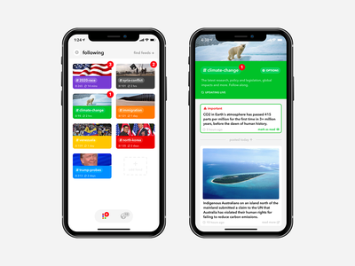 Winno iOS news app ios landing page app news journalism feed content blog thread discussion posts media