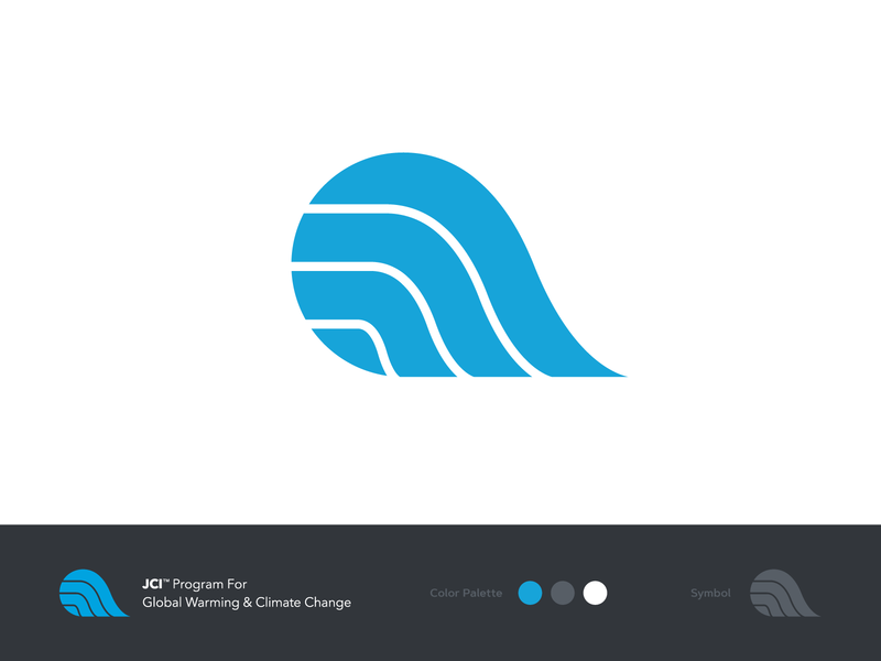JCI Global Warming & Climate Change Logo branding globalwarming global climate change climate world globe logo design logo