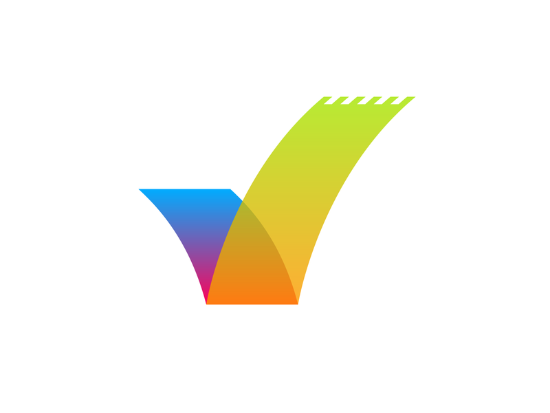CheckMate Logo colorful graphic  design graphic icon mobile app mobile to-do list to-do gradient app logo design logo