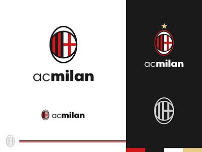 Rebranding Serie A - AC Milan club soccer milan ac milan italy football rebranding branding logo design logo