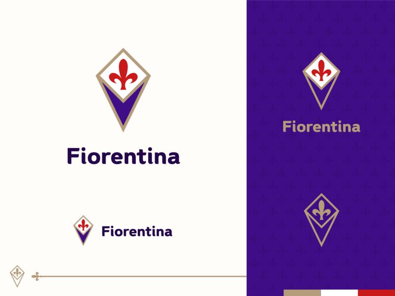 Rebranding Serie A - Fiorentina crest club soccer football serie a fiorentina rebranding branding logo design logo